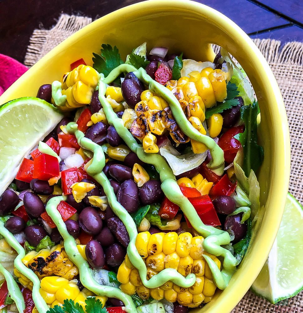 Mexican Chopped Salad with Creamy Avocado Dressing Recipe