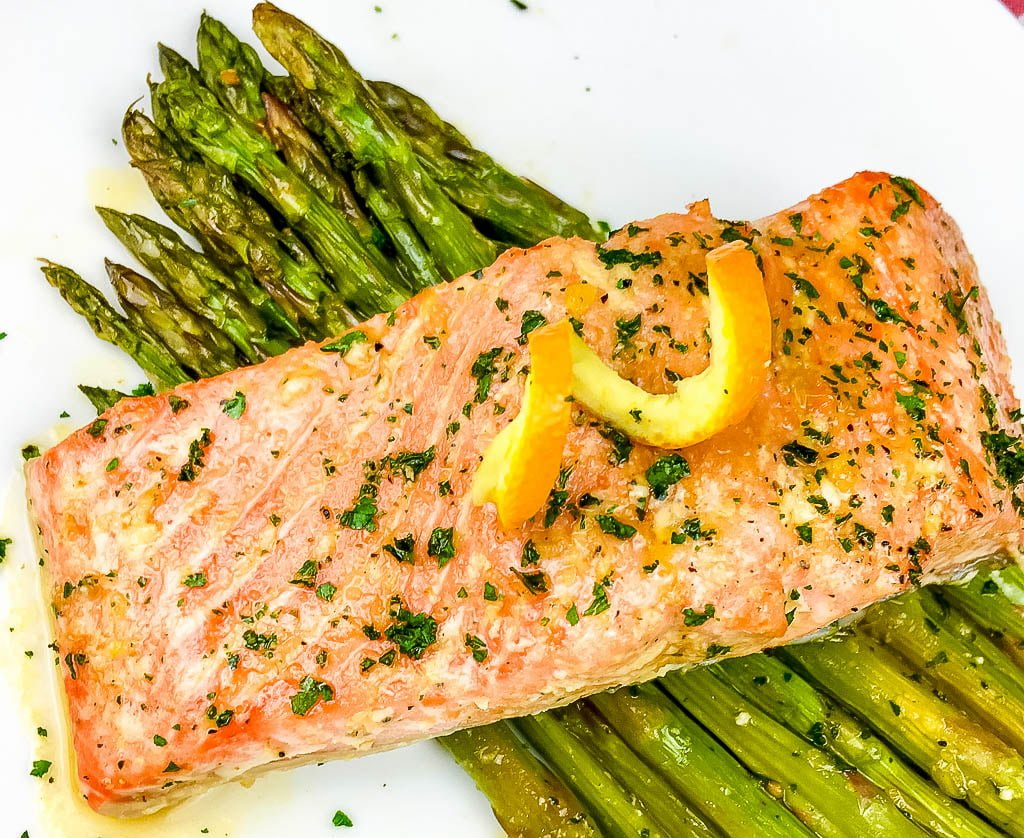Quick and Easy Orange Glazed Salmon with Asparagus
