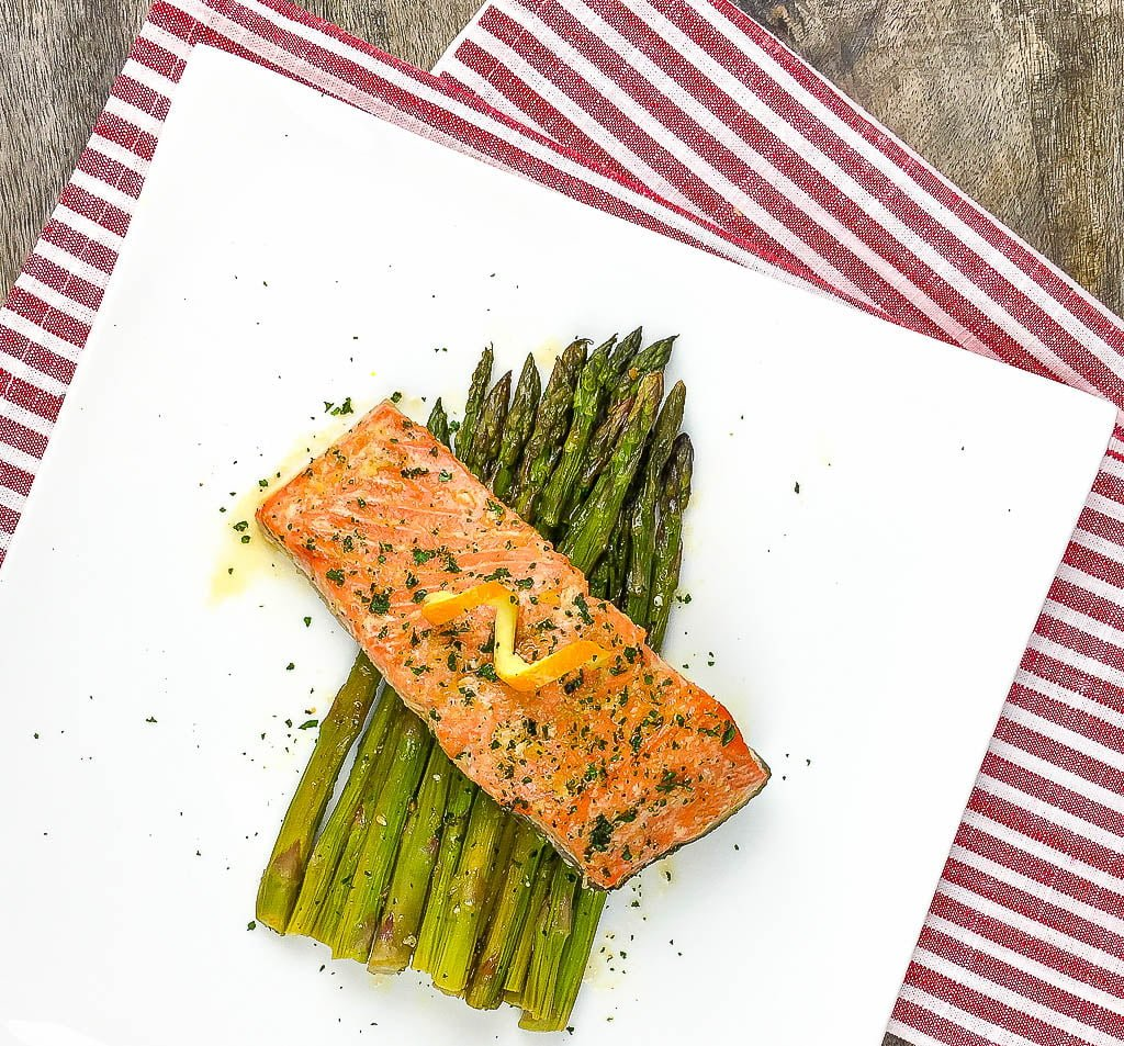 Sheet Pan Orange Glazed Salmon with Asparagus Recipe