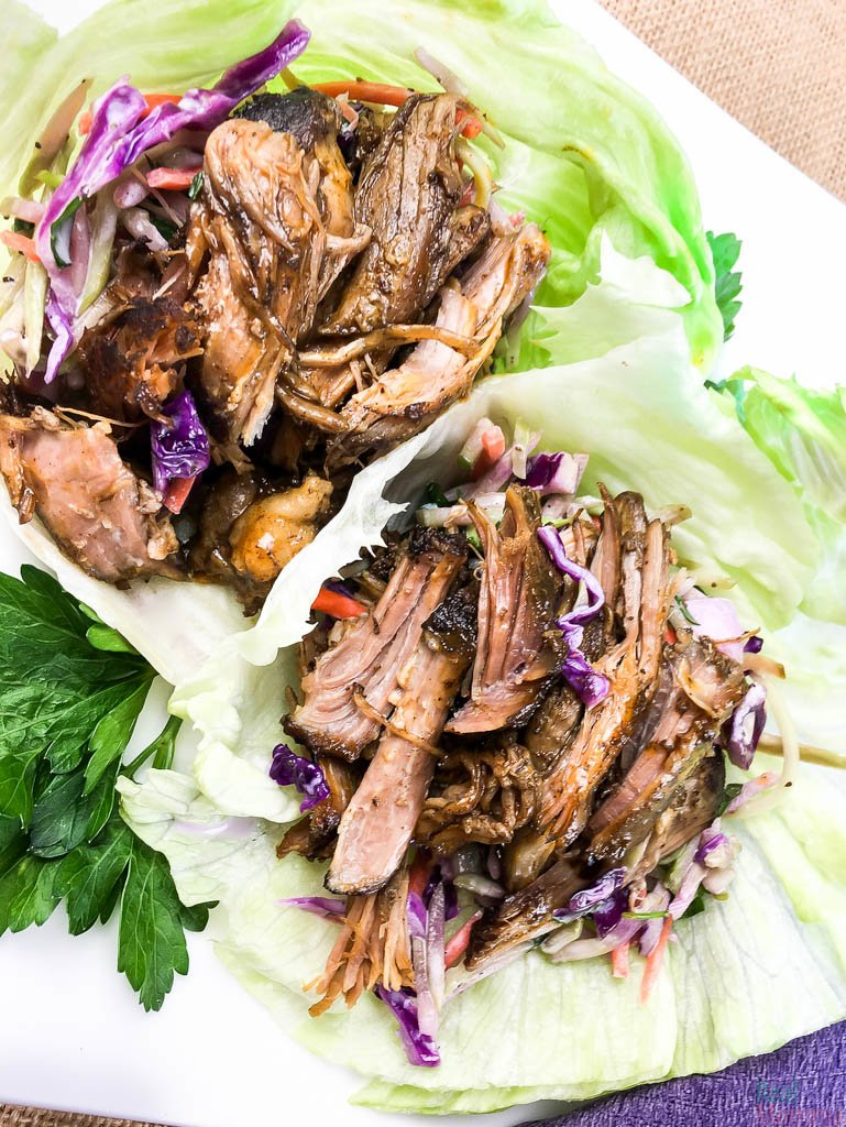Slow Cooker Pulled Pork Lettuce Wrap Recipe