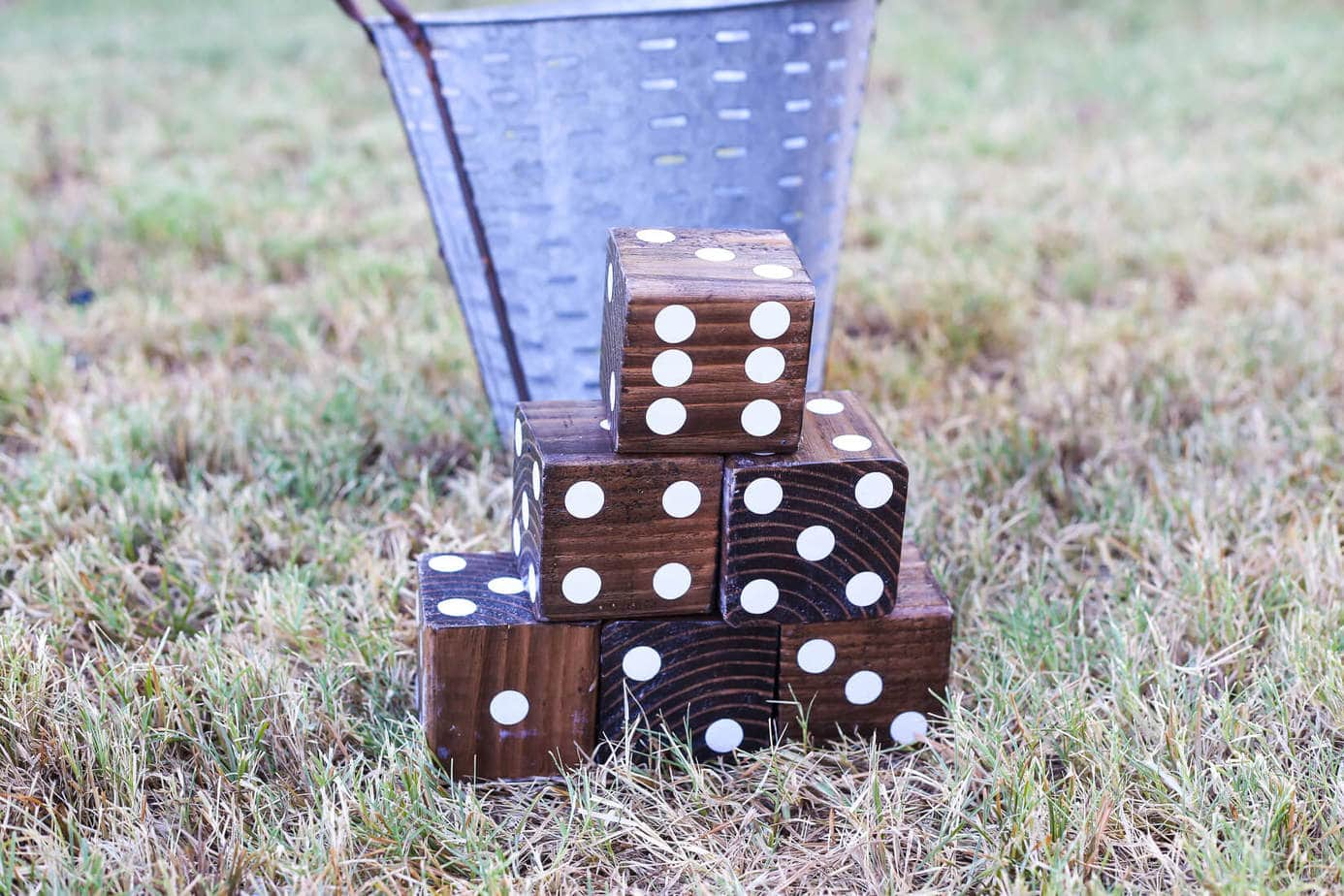 Easy DIY Yard Dice