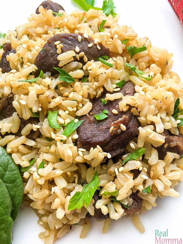 Instant Pot Asian Beef Rice