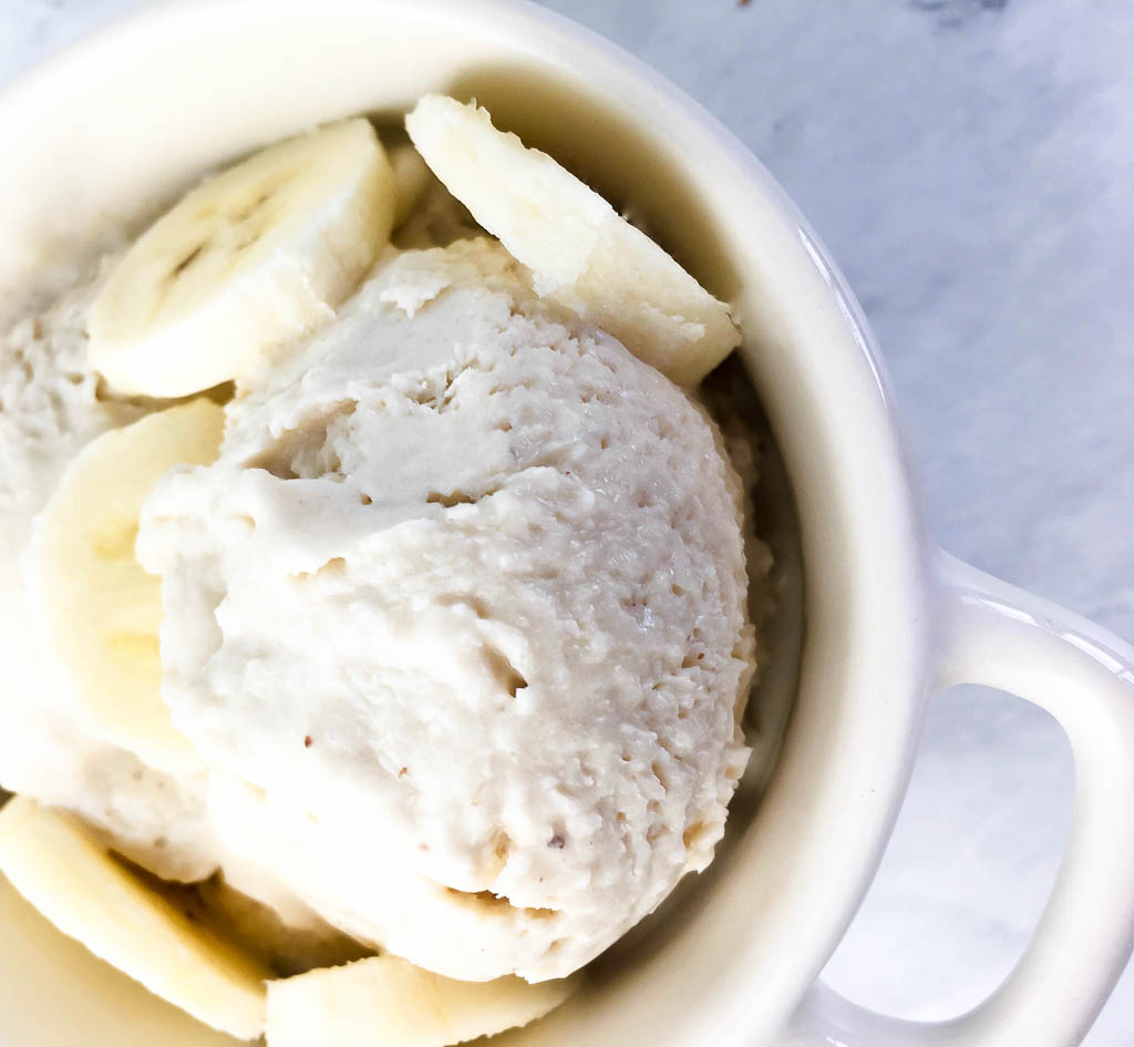 Quick and Easy Banana Cream Frozen Yogurt recipe