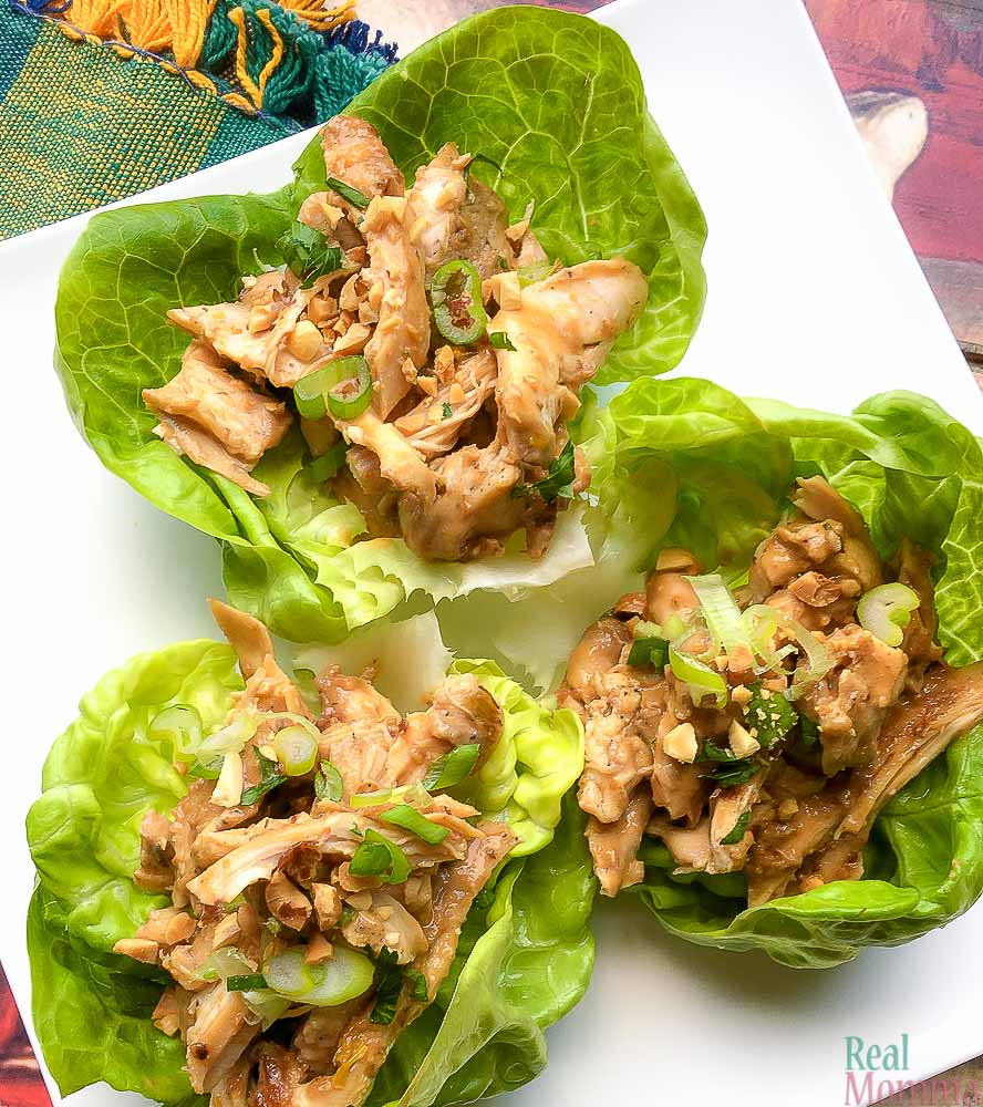 Quick and Easy Instant Pot Thai Chicken Thigh Wraps