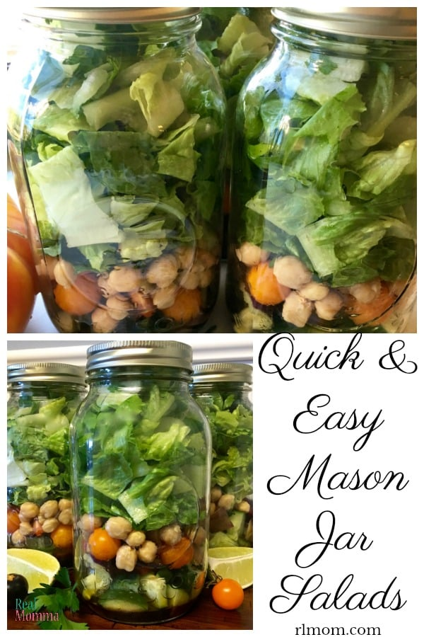 Quick and Easy Mason Jar Salads
