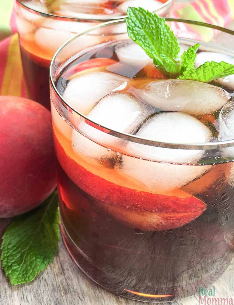 Quick and Easy Ginger Peach Iced tea