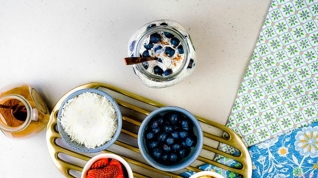 Cinnamon Blueberry Chia Pudding