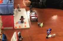 Dustin and the Playmobil NHL Take Along Arena