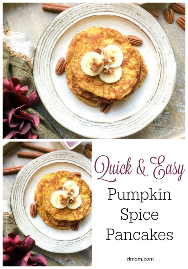 This Paleo Friendly Recipe makes a delicious batch of Pumpkin Spice Pancakes