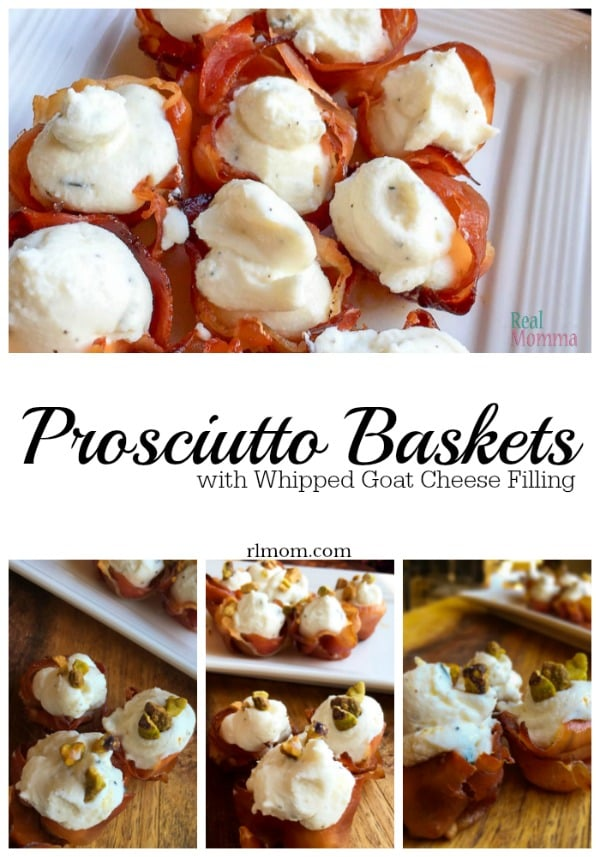 Prosciutto Baskets with Whipped Goat Cheese Filling Recipe