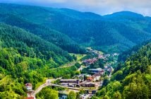 View of Hornberg village in Schwarzwald mountains - Germany