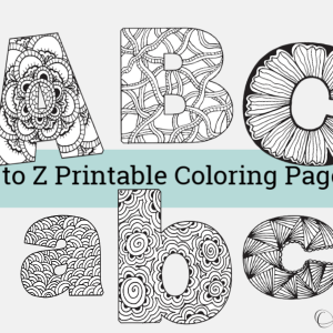 A to Z Printable Coloring Pages