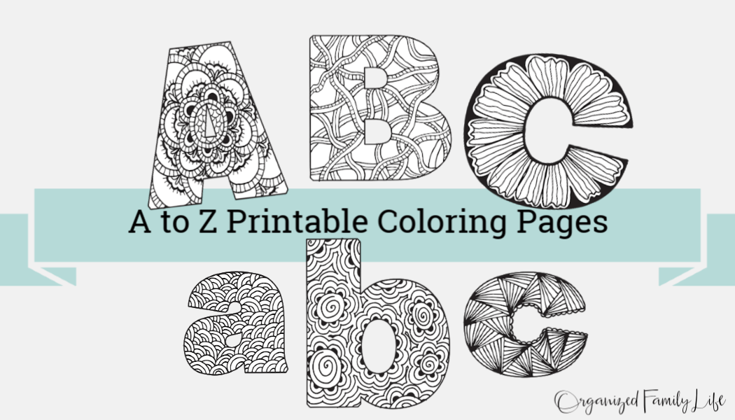 A To Z Printable Coloring Pages Real Momma