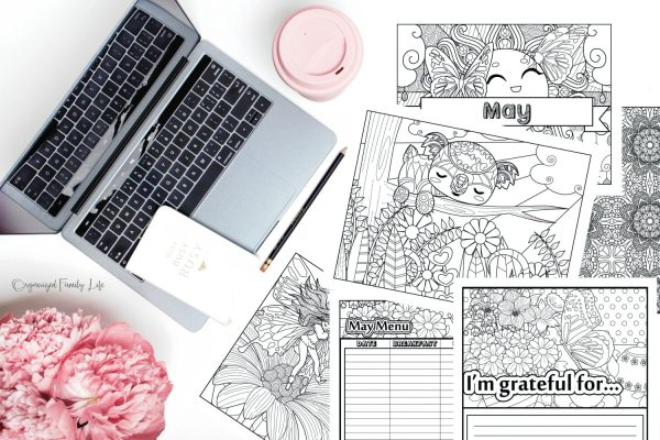 Monthly Coloring Planner - May