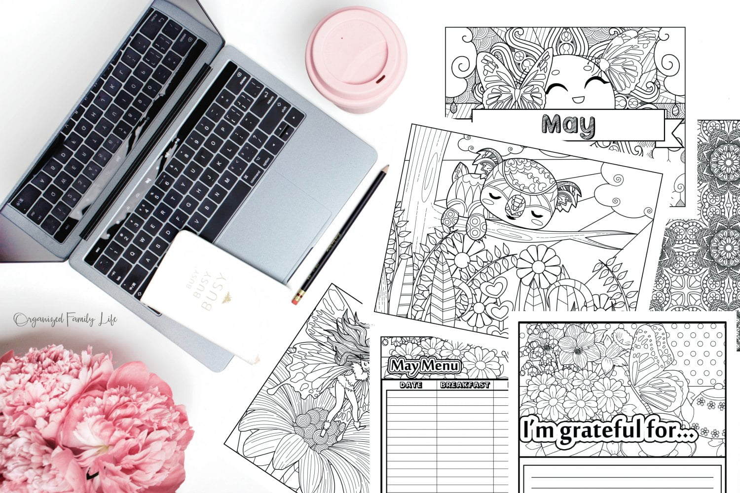 Free Printable 2020 Adult Coloring Calendar - The Crazy Craft Lady | 1000x1500
