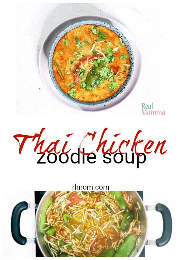 quick and easy thai chicken zoodle soup recipe
