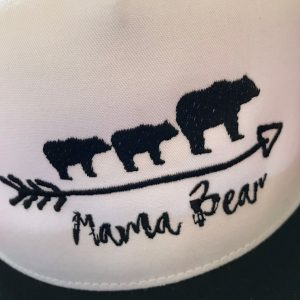 mama bear trucker hat close up