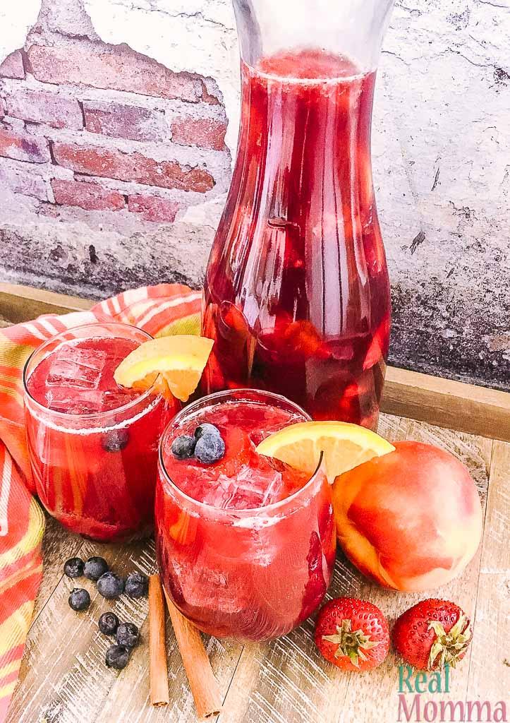 berry peach sparkling sangria recipe