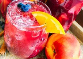 Berry Peach Sparkling Sangria