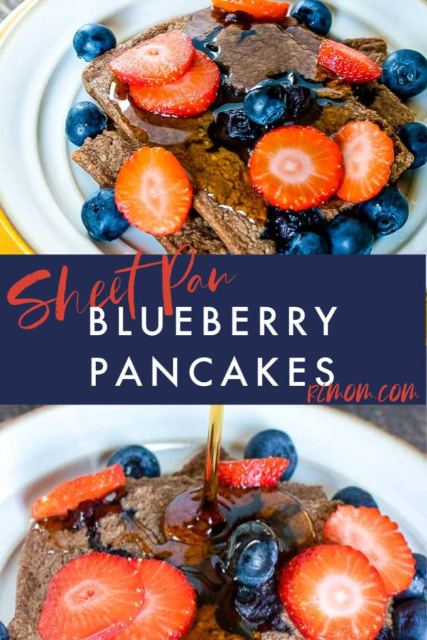 Quick and Easy Sheet Pan Blueberry Pancakes