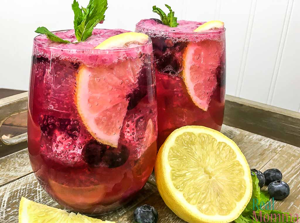 sparkling blueberry maple lemonade recipe
