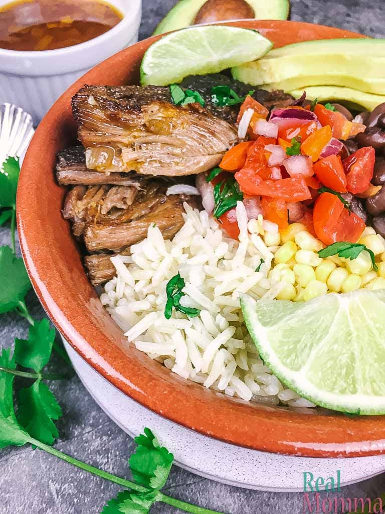 instant pot pork carnitas bowls recipe