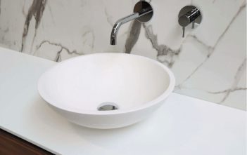 An example of a sink that will need hot water.